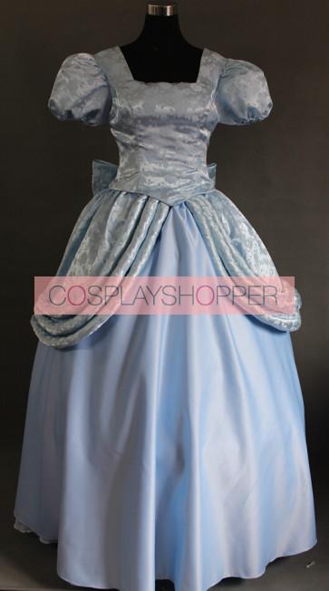 Cinderella Princess Dress Cosplay Costume - Light Blue Edition