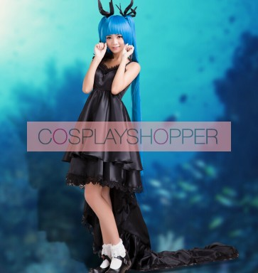 Vocaloid 3 Hatsune Miku Black Dress Cosplay Costume