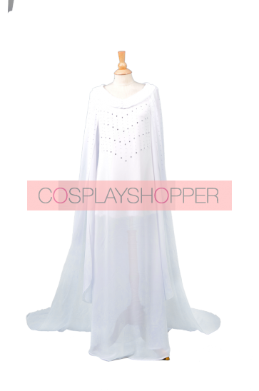 The Hobbit The Lord of the Rings Galadriel Cosplay Costume