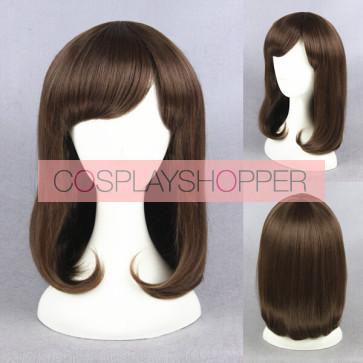 Brown 35cm Wolf Girl and Black Prince Erika Shinohara Cosplay Wig