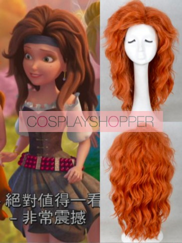 Brown Red Tinker Bell and the Pirate Fairy Zarina Cosplay Wig