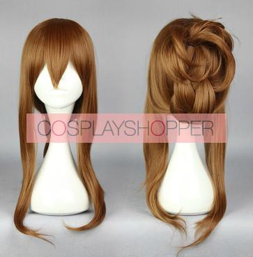 Brown 70cm Kantai Collection Inazuma Cosplay Wig