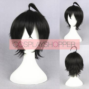 Black 30cm Orenchi no Furo Jijo Tatsumi Cosplay Wig