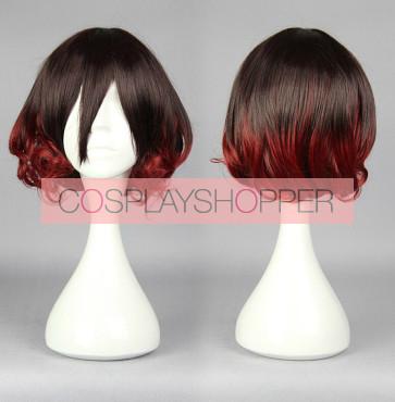 Black and Red 30cm Kantai Collection Mutsuki Cosplay Wig
