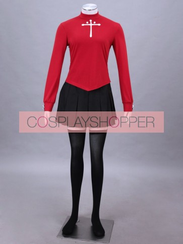 Fate/stay Night Rin Tosaka Cosplay Costume