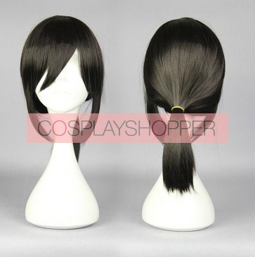 Black 45cm Kantai Collection Fubuki Cosplay Wig