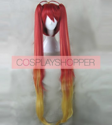 120cm Gonna be the Twin-Tail!! Soji Mitsuka Tail Red Cosplay Wig