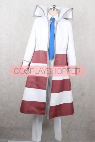 Pokemon Black and White Subway Boss Emmet Cosplay Costume