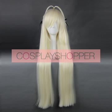 Gold 80cm Yosuga no Sora Sora Kasugano Cosplay Wig