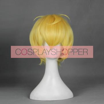 Gold 30cm Cute High Earth Defense Club Love! Yumoto Hakone Cosplay Wig