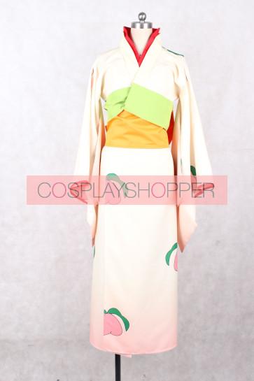 Hoozuki no Reitetsu Peach Maki Kimono Cosplay Costume