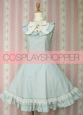 Blue Sleeveless Lovely Lolita Dress