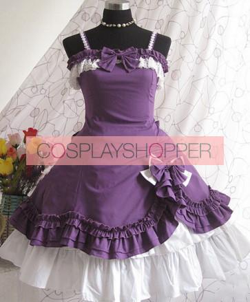 Purple Strap Bow Lovely Lolita Dress