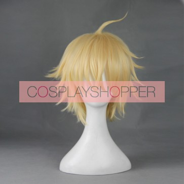 Yellow 35cm Seraph of the End Mikaela Hyakuya Cosplay Wig
