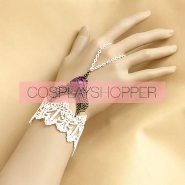 Beautiful Handmade Lace Rose Lolita Wrist Strap