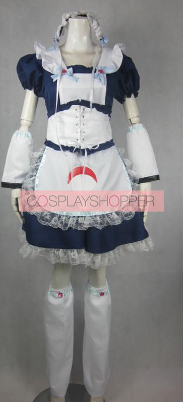 Naruto Sasuke Uchiha Lolita Maid Cosplay Costume