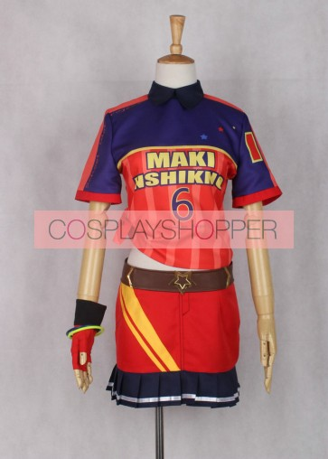 Love Live! Maki Nishikino Baseball Ver. Cosplay Costume