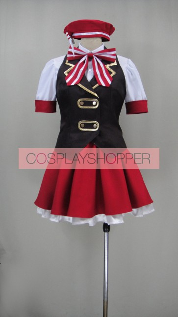 Is the Order a Rabbit? Cocoa Hoto Cosplay Costume (Red Skirt)