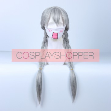 Silver 80cm Zootopia Judy Hopps Human Cosplay Wig