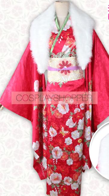 Fate/Stay night Rin Tosaka Kimono Cosplay Costume