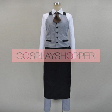 Tokyo Ghoul Ken Kaneki Waiter Uniform Cosplay Costume
