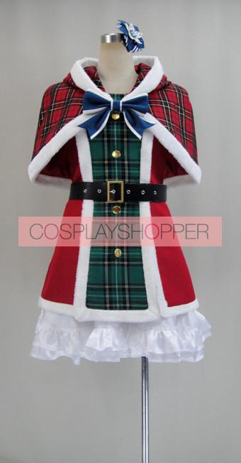 Love Live! SR Card Umi Sonoda Christmas Cosplay Costume
