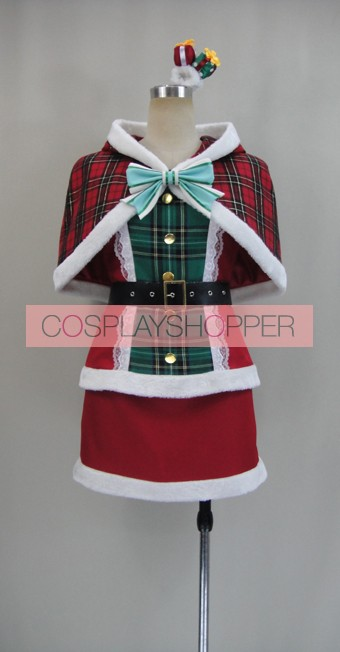Love Live! SR Card Eri Ayase Christmas Cosplay Costume