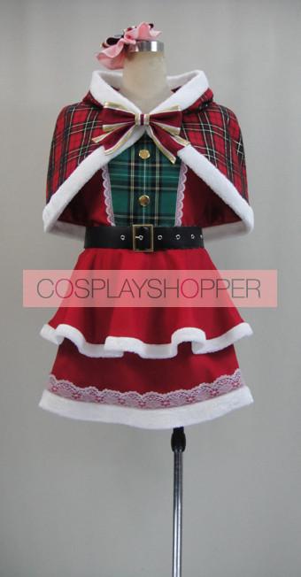 Love Live! SR Card Maki Nishikino Christmas Cosplay Costume