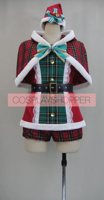 Love Live! SR Card Rin Hoshizora Christmas Cosplay Costume