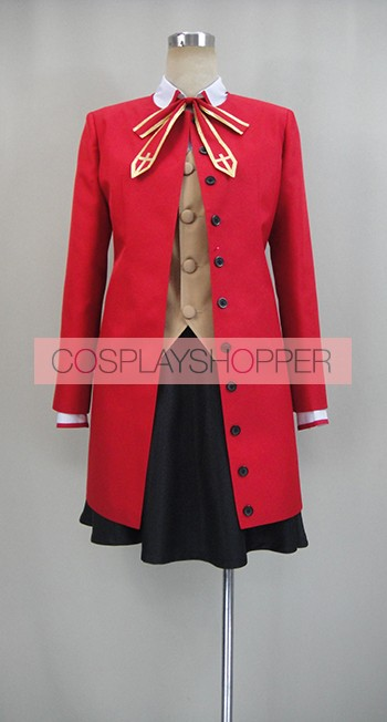 Fate Stay Night Rin Tohsaka Cosplay Costume With Coat