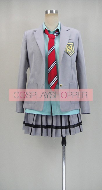 Your Lie in April Kaori Miyazono Girl's School Uniform Cosplay Costume