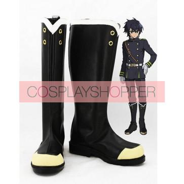 Seraph of the End: Vampire Reign (Owari no Serafu) Yuichiro Hyakuya Black Bosplay Boots
