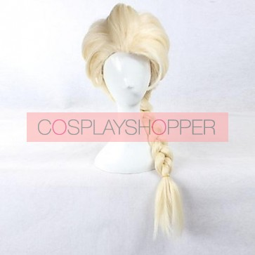 Golden 65cm Frozen Princess Elsa Cosplay Wig