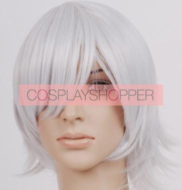 Silver 32cm Hakuouki Toshizo Hijikata Cosplay Wig