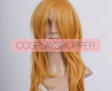 Golden 65cm Final Fantasy Stella Nox Fleuret Cosplay Wig