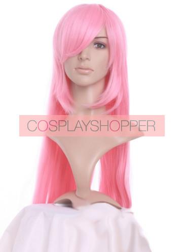 Light Pink 100cm Vocaloid Megurine Luka Cosplay Wig