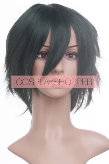 Dark Green 30cm Mobile Suit Gundam Seed Allelujah Haptism Cosplay Wig