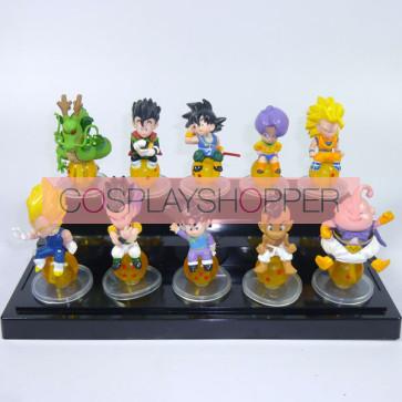 10-Piece Dragon Ball Goku Mini PVC Action Figure Set