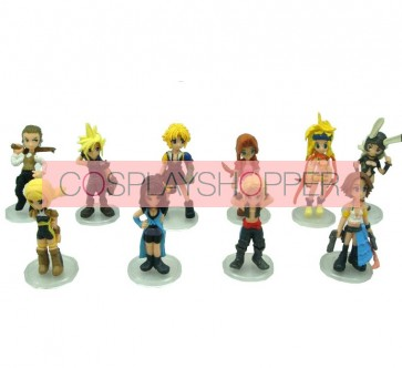 10-Piece Final Fantasy Mini PVC Action Figure Set
