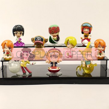 10-Piece One Piece Mini PVC Action Figure Set-A