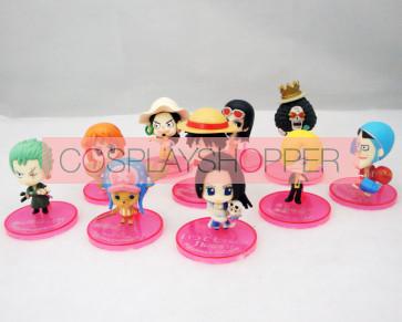 10-Piece One Piece Mini PVC Action Figure Set-B