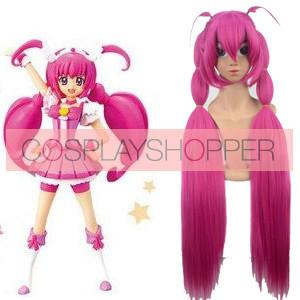 100cm Smile PreCure! Miyuki Hoshizora Cure Happy Nylon Cosplay Wig