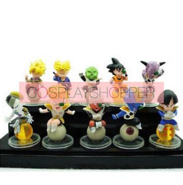 11-Piece Dragon Ball Goku Mini PVC Action Figure Set