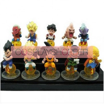 12-Piece Dragon Ball Goku Mini PVC Action Figure Set