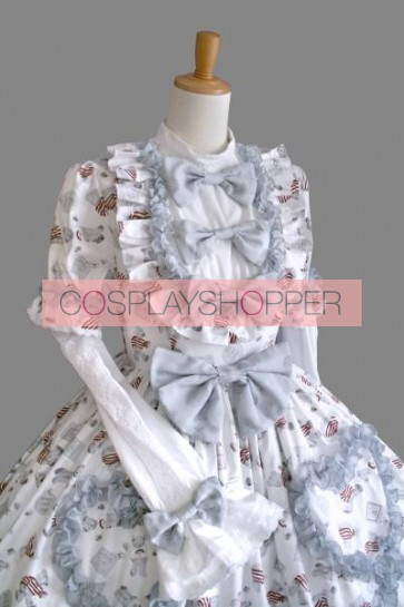 Lovely Long Sleeves Bows Sweet Lolita Dress