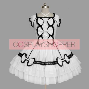 White Bandage Stylish Cotton Gothic Lolita Dress