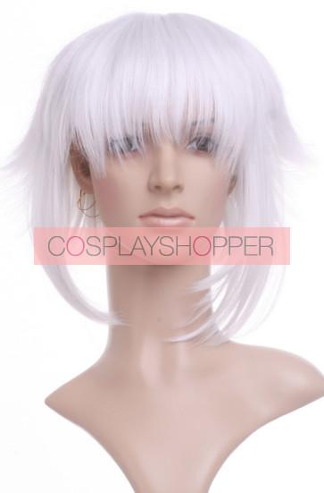 Silver 35cm Hakuouki Okita Souji Cosplay Wig