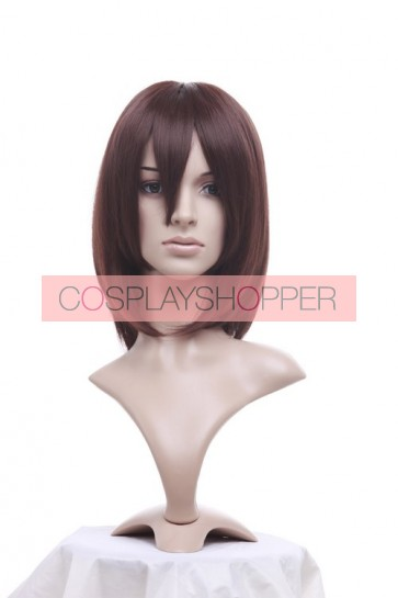 Dark Brown 40cm Gundam Seed Murrue Ramius Cosplay Wig