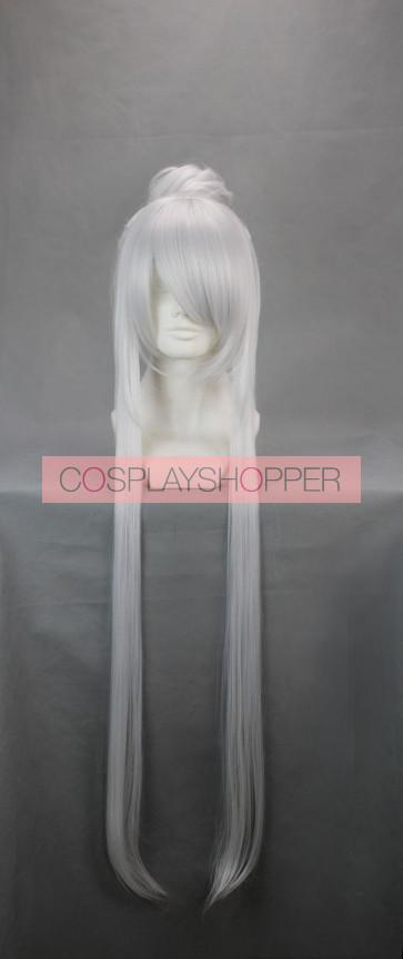 Silver 90cm Kung Fu Panda Lord Shen Cosplay Wig