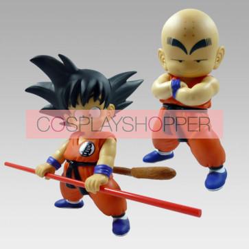 2-Piece Dragon Ball Goku Mini PVC Action Figure Set - A